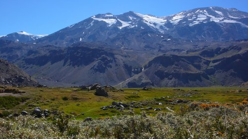 San Jose (5856m) and the Valle de la Engorda