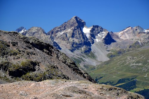 Piz Julier above the Upper Engadin