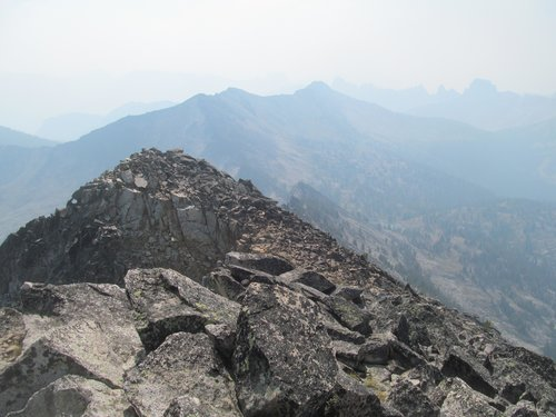extremely hazy summit views