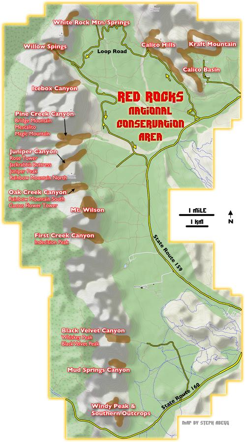 Red Rocks Map