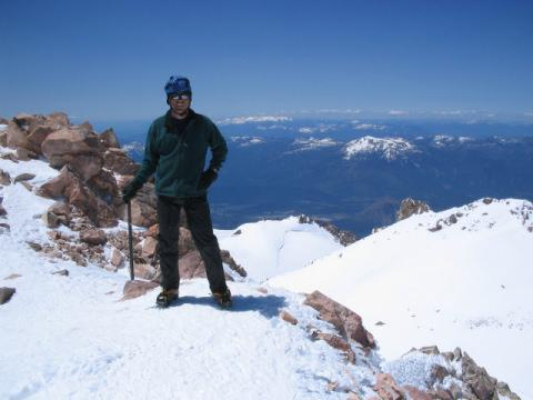 Mark O'Neal on Mt. Shasta...