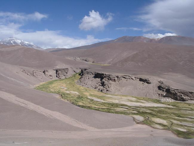 The Río Lamas with Cerro Tres...