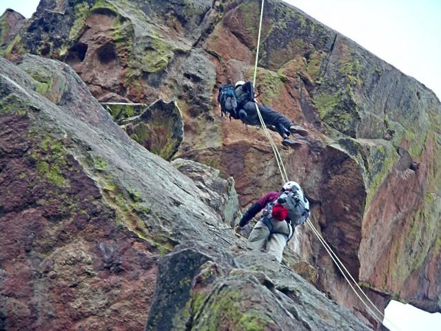 First Rappel from the Matron