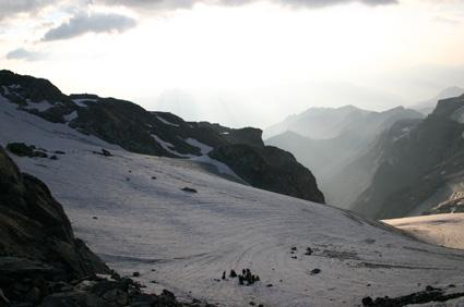 On the Monetier-glacier,...