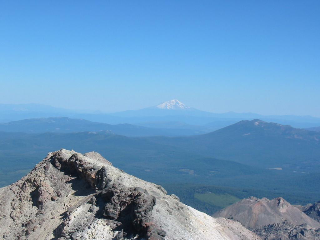 View of Mt. Shasta from Summit of Mt. Lassen