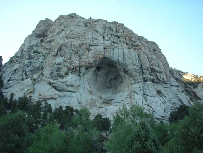 A rock formation at the...