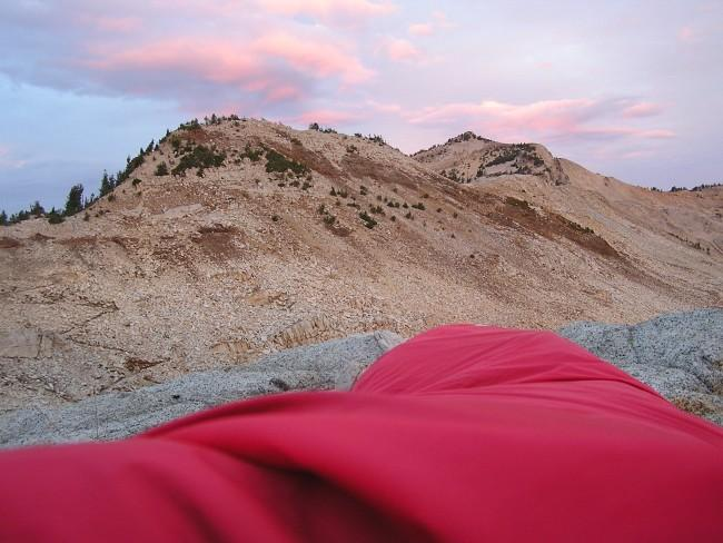 Waking up in the bivy sack...