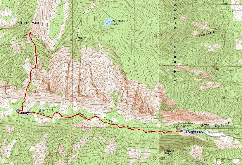Topo of South Face Chute Route