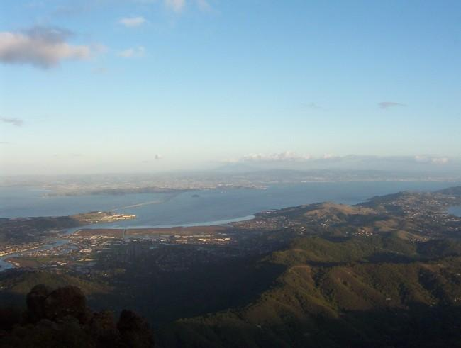 View of Bay Area from atop...