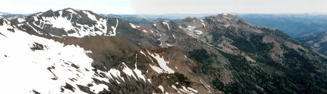 Panoramic view of Relief Peak...