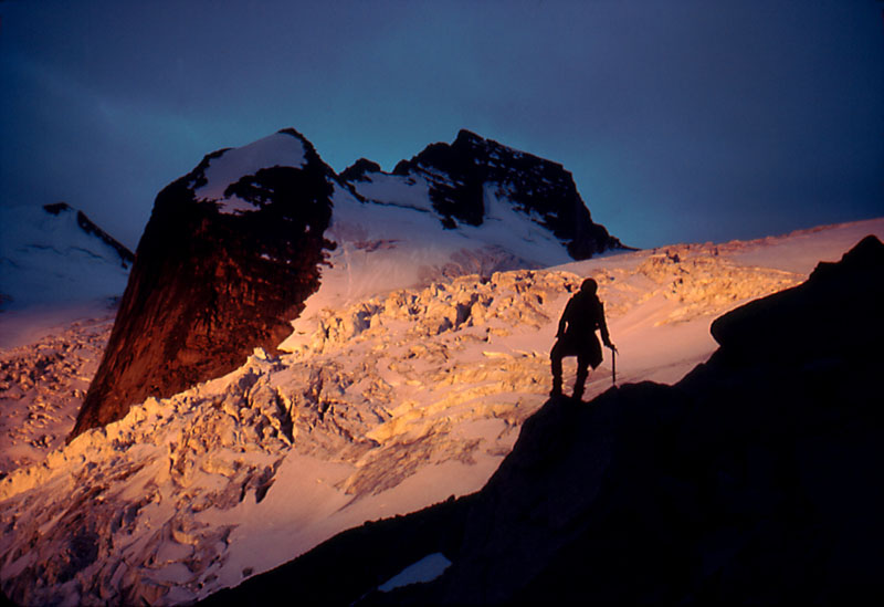Alpenglow on Bugaboo Glacier