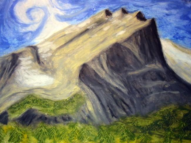 An original oil pastel of...