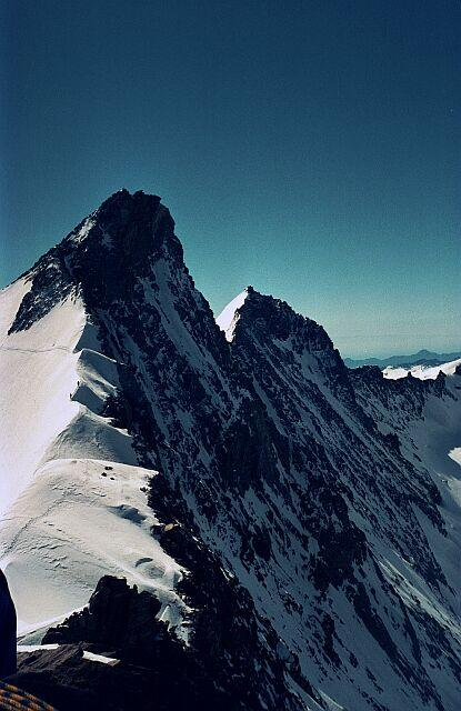 Nadelhorn (left) and...
