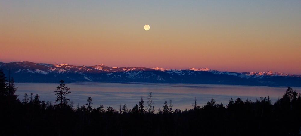 Full Moon over Lake Tahoe