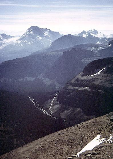 View south from the summit of Mount Siyeh
