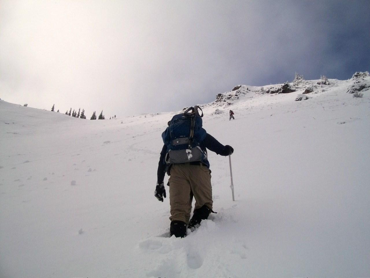 Heading up Silver Basin