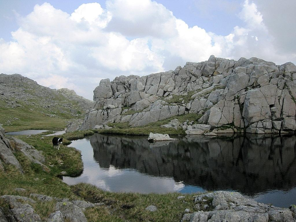 One of the many tarns on the ridge between Glaramara and Allen Crags