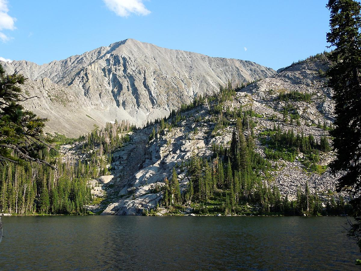 Crazy Peak from Blue Lake