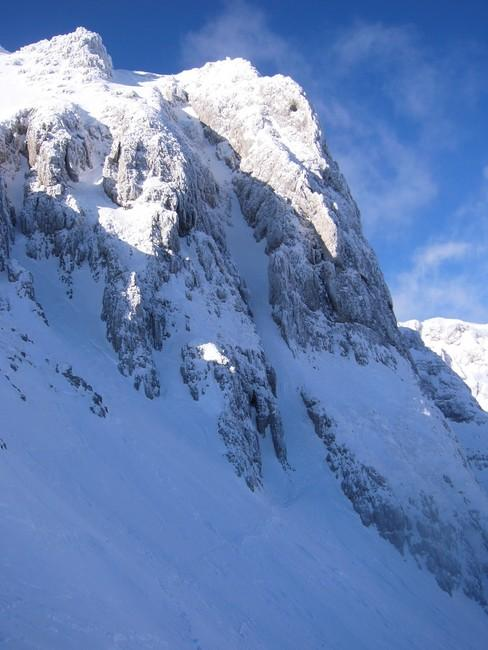 The NE couloir...