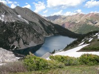 View of Snowmass Lake in the...