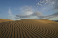 The sand dunes at the base of...