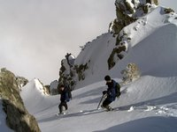 Descending the South Bowl