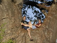 Kurt and Sara in a Baobab Tree -  Africa