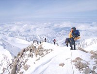The Ridge on Denali from 16,000 to 17,200