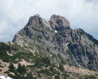 Devil s Castle from Mount Baldy