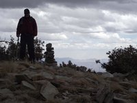 At the Kellogg Mountain summit