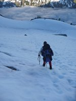 Heading Down Mount Logan