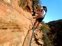 Climbing the Cables on Angels Landing